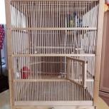 Продам большая самодельная клетка для птиц из дерева (в 67см. ш,д51см), Новосибирск