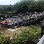 Быстровозводимый автомобильный мост, для замены аварийного моста., Новосибирск