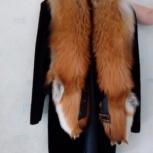 Шуба мутоновая с отделкой из меха лисы, Новосибирск
