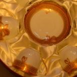 6 чайных пар в круглой подарочной упаковке., Новосибирск