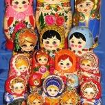 Матрешки в ассортименте от 3-х кукольных до 15 кукольных, Новосибирск