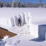 Сброс снега с крыши, Новосибирск