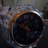 Продам часы настольные Маяк времён СССР, хрусталь, в рабочем состоянии, Новосибирск