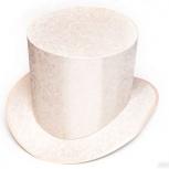 Шляпа цилиндр. Головной убор бежевого цвета слоновой кости, Новосибирск