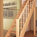Лестница деревянная на второй этаж, Новосибирск