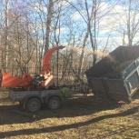 Измельчение веток и древесных отходов, Новосибирск