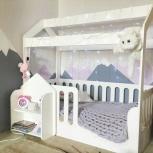 Кровать домик, Кровать детская, Детская кровать, Доставим Сегодня, Новосибирск