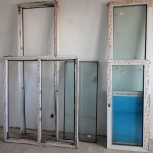 Две балконных двери «KBE» с рамами, Новосибирск