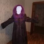 Продам очень красивую шубу из меха нутрии с шикарным капюшоном, Новосибирск