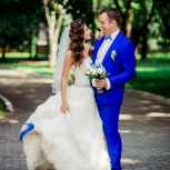 Мужской костюм синего цвета напрокат, Новосибирск
