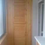Обшивка балконов и лоджий.+ шкафы из вагонки, Новосибирск