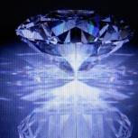 продам 10мм прозрачный кристальный сверкающий форма пресс папье, Новосибирск