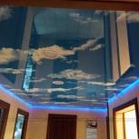 Натяжной потолок в двухкомнатной квартире (шт.), Новосибирск