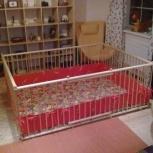 Купить манеж для малышей большого размера деревянный 1,5х2,0м, Новосибирск