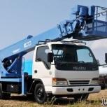 Аренда японской телескопической автовышки, Новосибирск