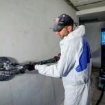 Механизированное шпаклевание стен, потолков, Новосибирск