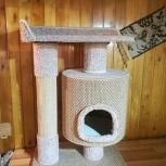 Новый кошачий домик с когтеточкой, Новосибирск