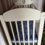 Продам детскую кроватку + подарок ортоматрас и подгузники, Новосибирск