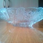Продам вазу ладью хрустальную, новую, Новосибирск