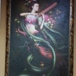 Картина маслом в багетной раме, Новосибирск