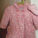 Продам хорошенькое пальтишко на девочку 6-12 мес шапочка в подарок, Новосибирск