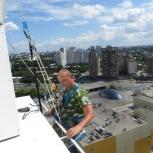 Промышленные альпинисты, высотные работы, Новосибирск
