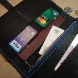 Кошелек бумажник из натуральной кожи. Новый. Handmade, Новосибирск