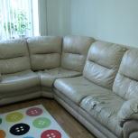 Большой угловой кожаный диван, Новосибирск
