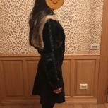 Продам короткую шубку с мехом из мутона, Новосибирск