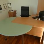Продам стол офисный c тумбой б/у отс, Новосибирск