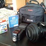 Фотоаппарат Canon 60D 17-40mm со вспышкой 430EX2, плюс аксессуары, Новосибирск