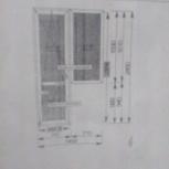 балконный блок (дверь и окно глухое) пластик, б/у, Новосибирск