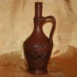 Винтажная глиняная бутылка, Новосибирск