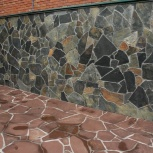 Отмостки рваным камнем, плиткой, тротуарные дорожки, благоустройство, Новосибирск