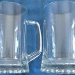 Кружки для пива 0.75 л новые, 2 шт, Новосибирск