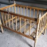 Кроватка детская ручной работы : балясины, Новосибирск