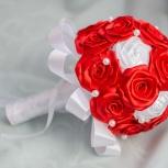 Свадебные брошь букеты, букет невесты, букет дублер, Новосибирск
