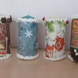 Декоративные новогодние свечи, Новосибирск