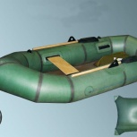 Двухместна резиновая лодка Чайка-2, Новосибирск