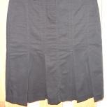 Юбка черная (не блестит!) из плотной ткани, размер 38-40 в ОТС, Новосибирск