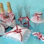Свадебные бутылки и бокалы, Новосибирск
