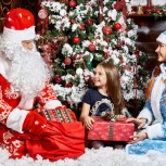 Новогоднее поздравление ребенка от Дед Мороза и Снегурочки на дому, Новосибирск