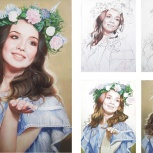 Портрет с фотографии на заказ, Новосибирск
