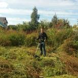Покос травы. Обработка. Газон.Строительство. Ландшафтные работы. Земля, Новосибирск