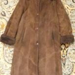Продам женскую дубленку, натуральный мех, размер 48-50, длина 138 см, Новосибирск