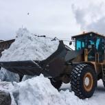 Заказ погрузчика, вывоз снега по кубам., Новосибирск