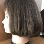 Парик из натуральных каштановых волос, Новосибирск