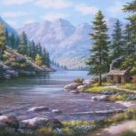 """Картина по номерам """"Горная река"""" 40х50 см, Новосибирск"""