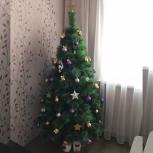 Искусственная елка (сосна пушиста) - 120 см + гирлянда, Новосибирск