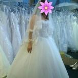 Свадебное платье со шлейфом Айвори, Новосибирск